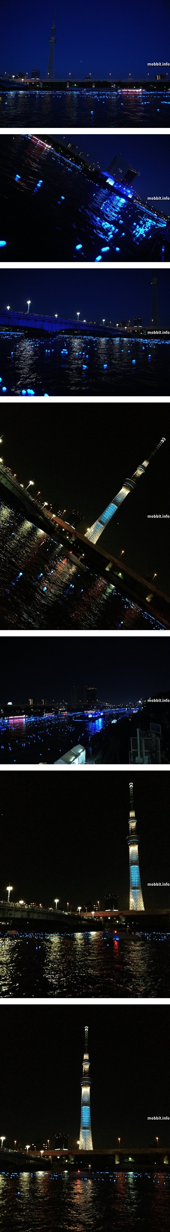 Panasonic запустила 100 000 «светлячков» по реке в Токио