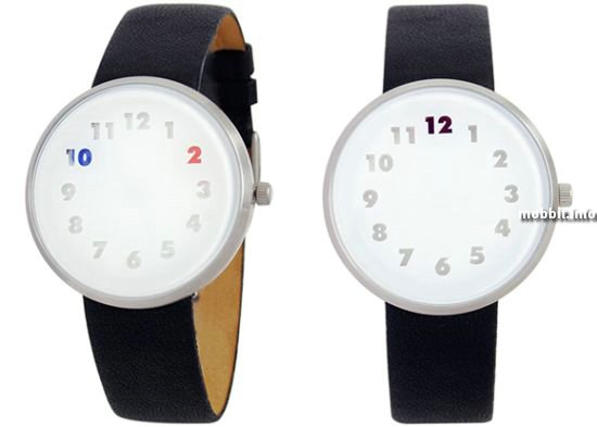 Часы с цифрами, меняющими цвет