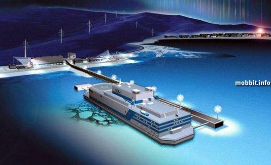 Россия строит первую в мире плавучую атомную электростанцию