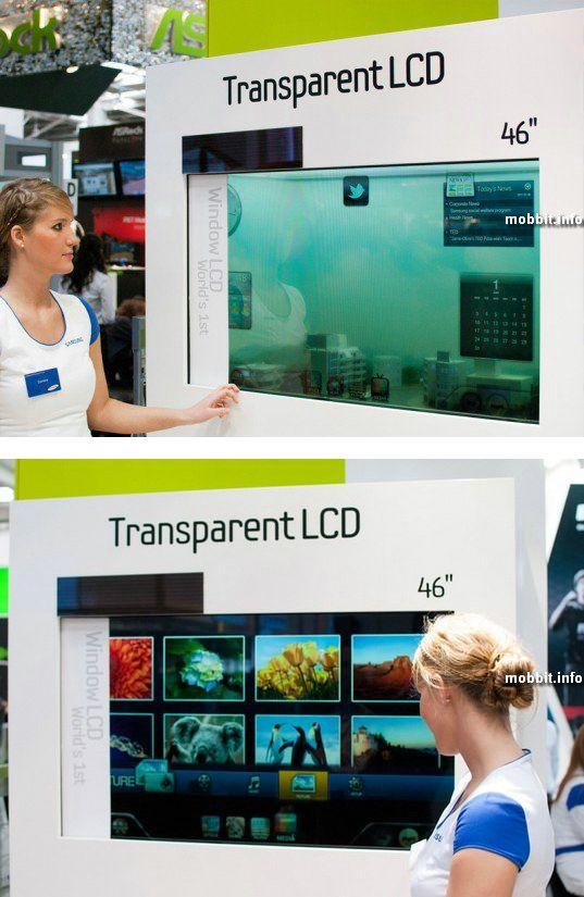 Прозрачный сенсорный дисплей Samsung