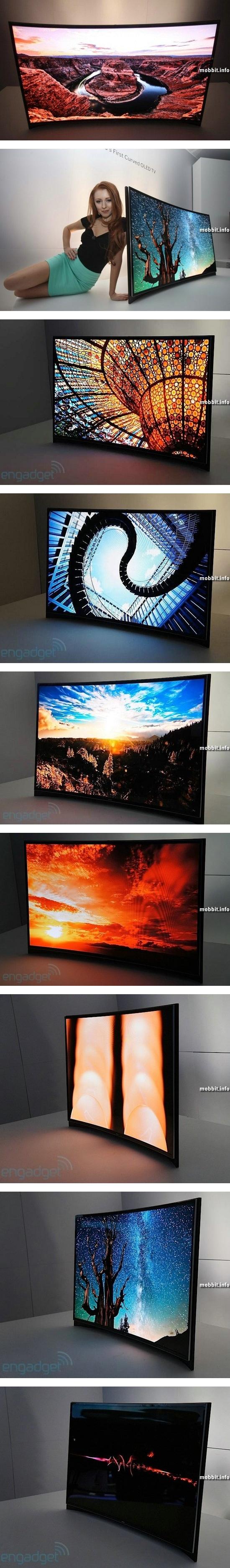 Первый в мире изогнутый OLED-телевизор