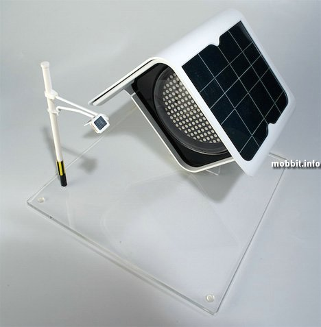 Cветофор на солнечных батареях