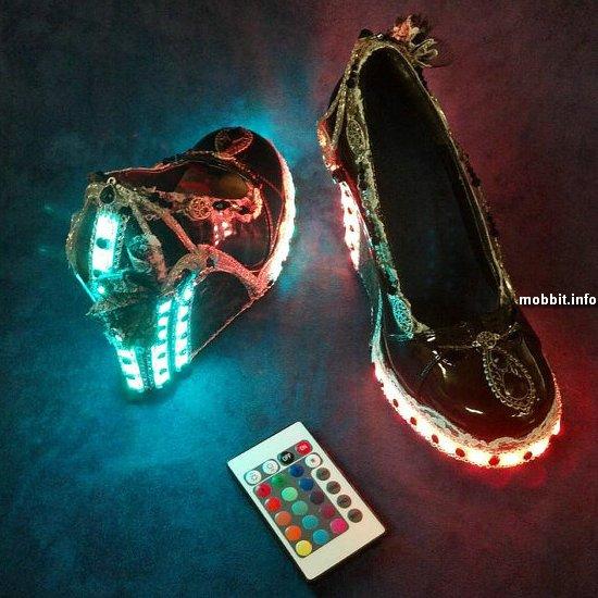 Стимпанк-туфли со светодиодной подсветкой