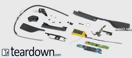 Сколько стоят комплектующие для «умных» очков Google Glass?