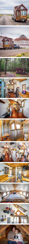 Крохотный и уютный домик на колесах