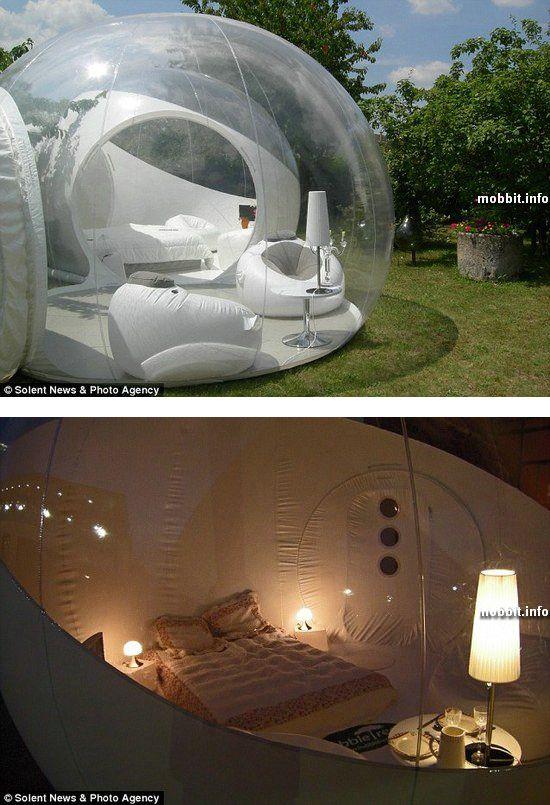 Гостиничный номер в прозрачной палатке