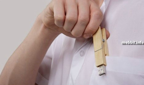 USB-флэшка в прищепке