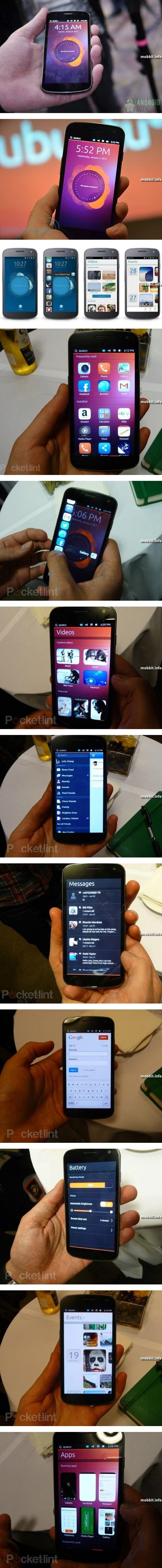 Первый смартфон под управлением Ubuntu