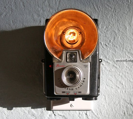 Ночники из винтажных фотоаппаратов