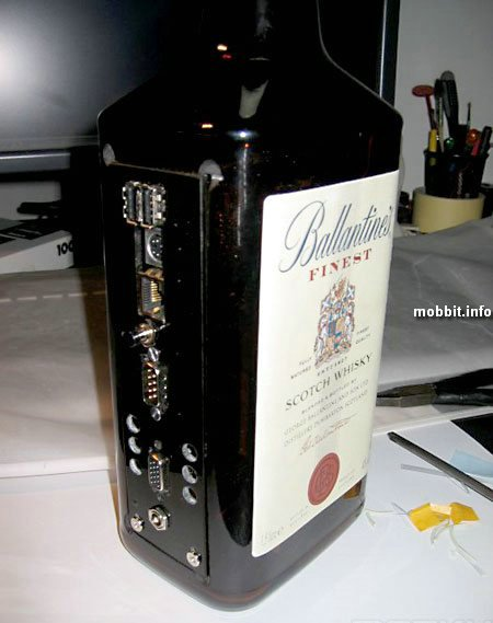 Компьютер в бутылке