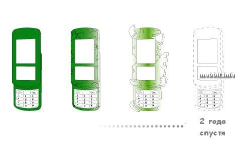 телефон из прессованного сена