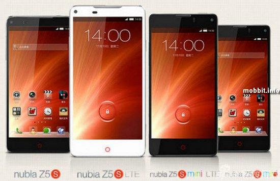 ZTE Nubia Z5S и Z5S mini