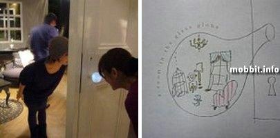Дверная ручка в виде стеклянного шара