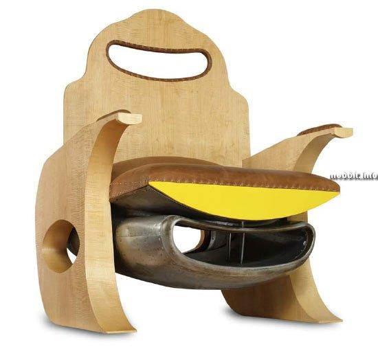 мебель с использованием деталей от самолетов