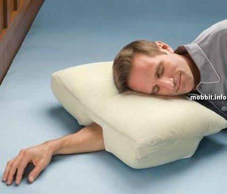 Подушка для любителей спать с рукой под подушкой