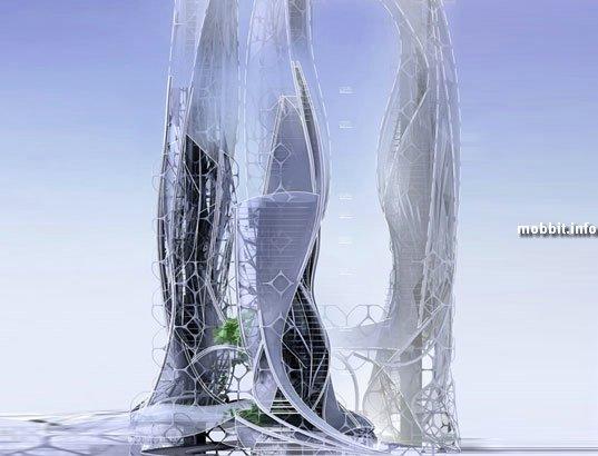 Футуристический эко-небоскреб