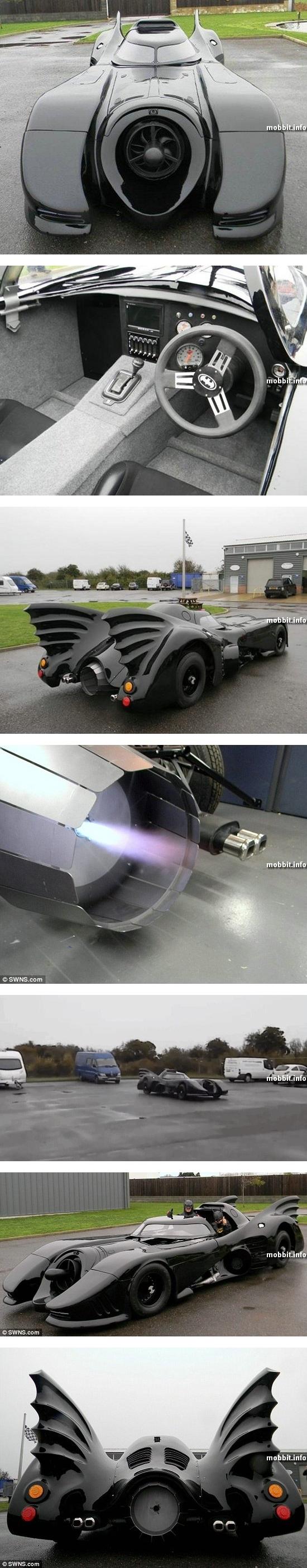 Полностью функциональный Бэтмобиль с огнеметом