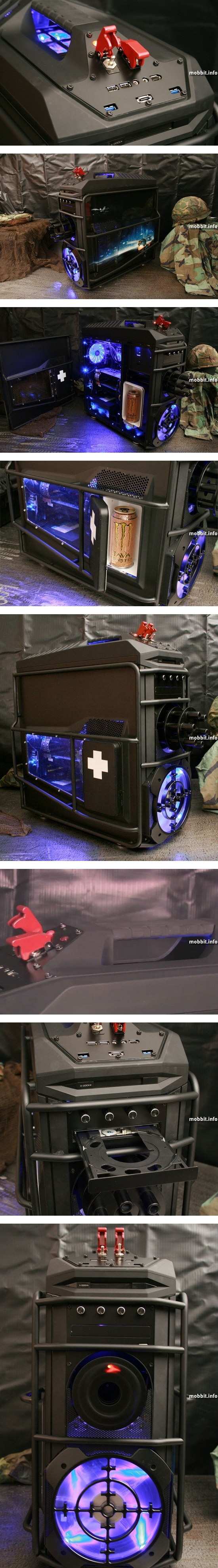 Компьютерный корпус-пулемет в стиле Battlefield 3