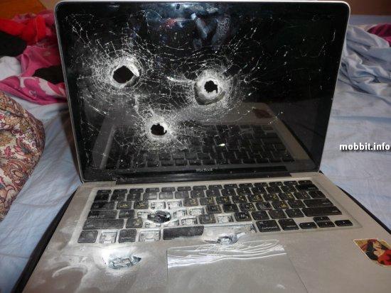 расстрелянный ноутбук