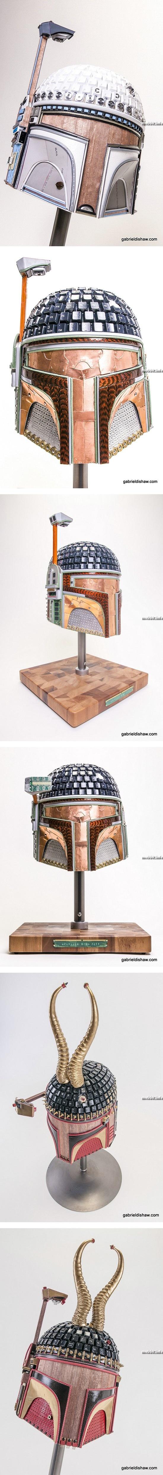 Шлемы Боба Фетта из старой электроники