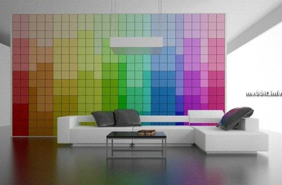 Стена, меняющая цвета