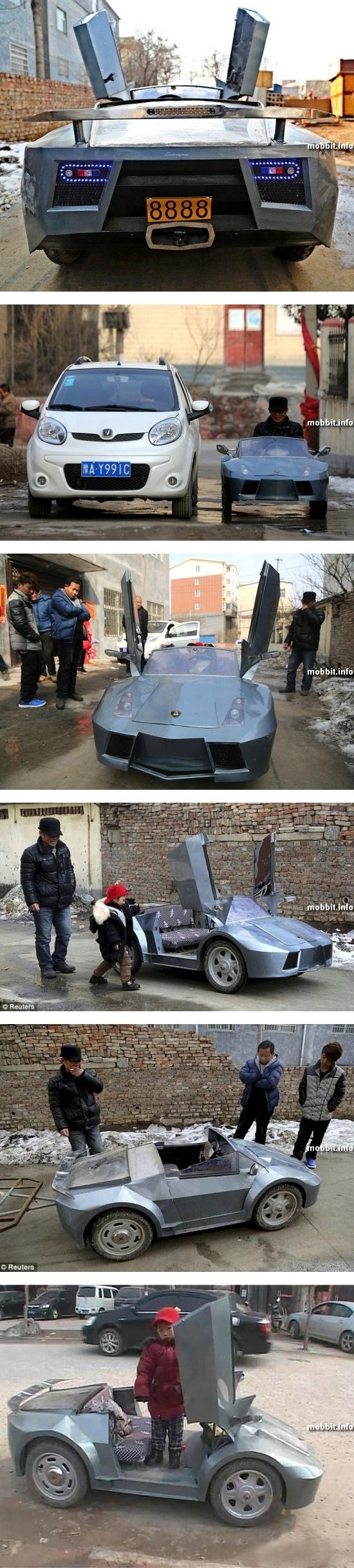 Электрическая мини-копия спорткара Lamborghini