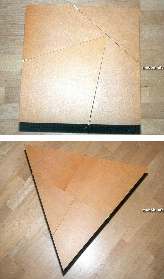 Самодельный геометрический столик