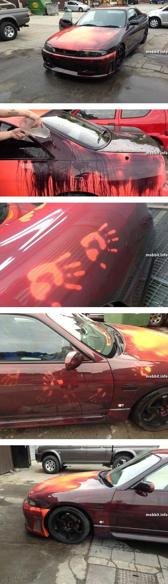 Автомобиль Nissan, который меняет цвет прямо на глазах