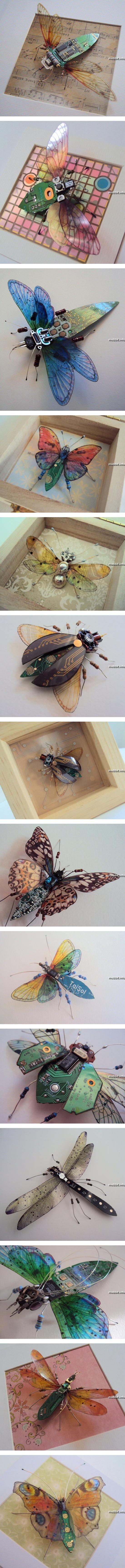 Чудесные насекомые из старой электроники