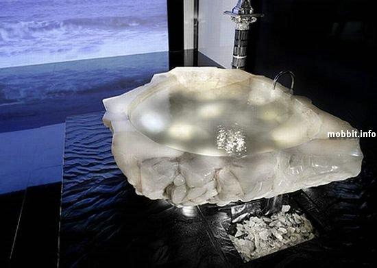 Ванна из цельного куска горного хрусталя