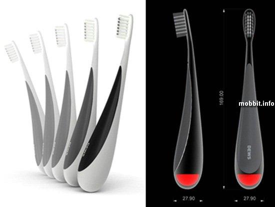 Зубная щетка-неваляшка DEWS