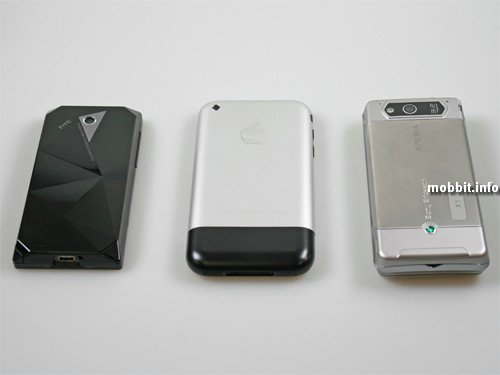 Xperia X1, HTC Touch Diamond или iPhone