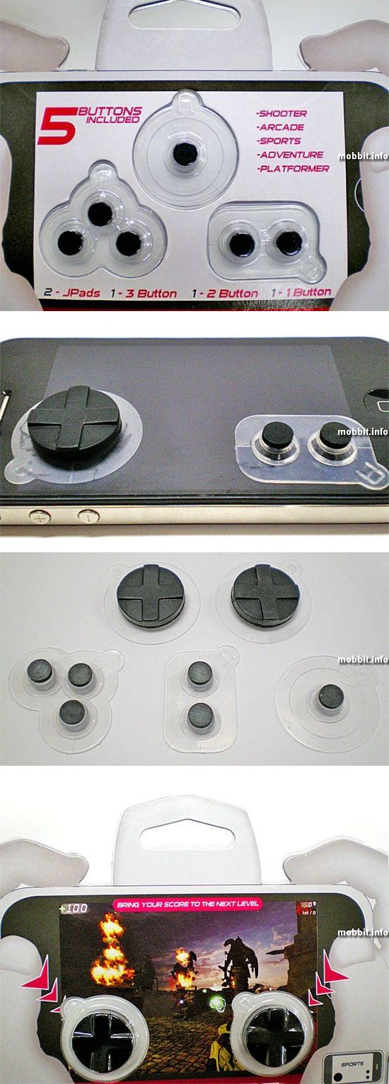 Набор физических клавиш для сенсорных телефонов
