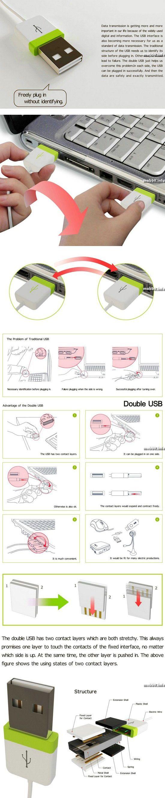 Двухсторонний USB-коннектор