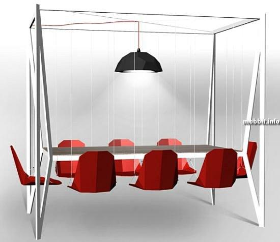 Обеденный стол и кресла-качели