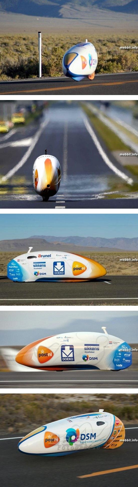 Новый рекорд скорости для велосипеда: 134 км/ч