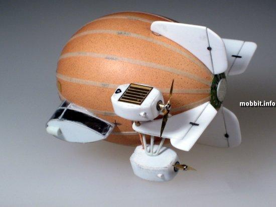 миниатюрный дирижабль из яйца