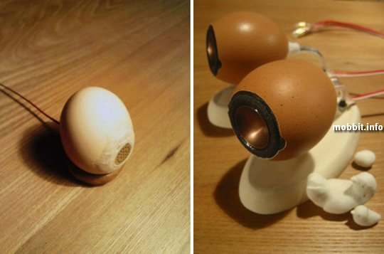 колонки из яичной скорлупы