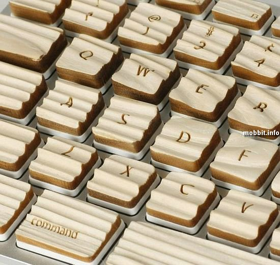 Клавиатура с рифлеными клавишами