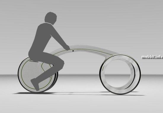 Складной электромотоцикл