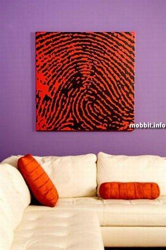 Картины с отпечатками пальцев