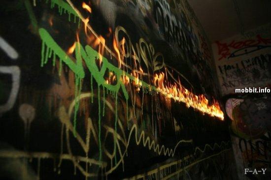 """""""огненное"""" граффити"""