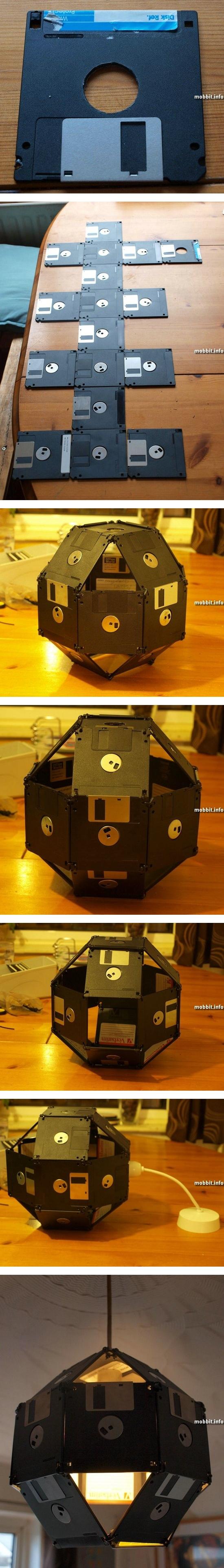 Абажур из флоппи-дисков
