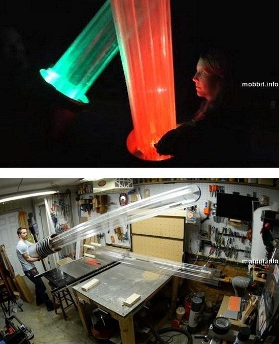 Гигантские световые мечи для настоящей дуэли