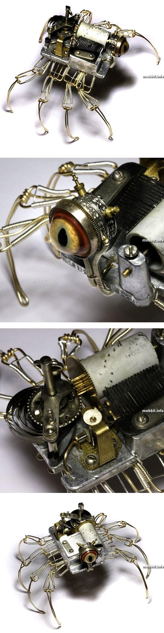 Музыкальный робот-паук в стиле стимпанк