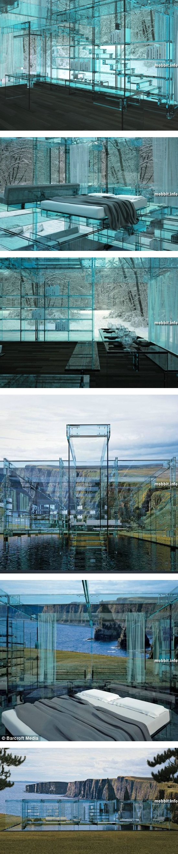 Великолепный дом из стекла