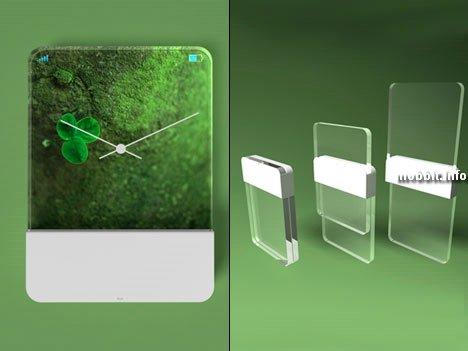 Концептуальные стеклянные телефоны