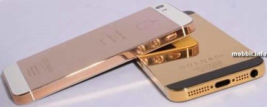 iPhone 5 в корпусе из чистого золота