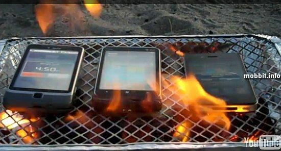 Смартфоны в огне: кто выдержит дольше?