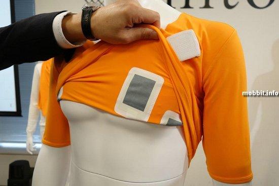 Футболка, которая измеряет сердечный ритм и делает ЭКГ